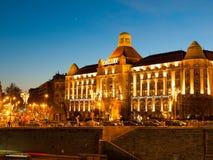 Sztuki Nouveau dziejowy budynek Gellert zdrój na Danube riverbank w Budapest, Węgry obraz royalty free