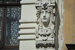 Sztuki Nouveau fasade Zdjęcia Royalty Free