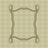 Sztuki Nouveau gładkich linii prostokąta wektoru dekoracyjna rama dla projekta Art Deco stylu granica Fotografia Stock