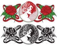 sztuki nouveau kobiety ilustracja wektor