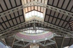 Mercado Środkowy rynek w sztuki Nouveau stylu, Walencja Obrazy Royalty Free