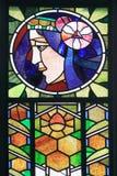 Sztuki Nouveau okno w Praga Zdjęcia Royalty Free