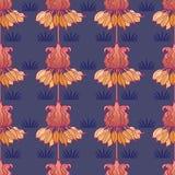 Sztuki nouveau wzór z kwiatami Zdjęcia Royalty Free