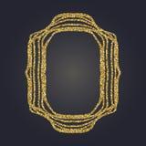 Sztuki Nouveau złocistej błyskotliwości prostokąta wektoru dekoracyjna rama dla projekta Art Deco stylu granica Zdjęcia Royalty Free