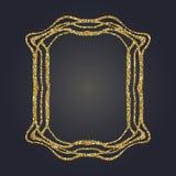 Sztuki Nouveau złocistej błyskotliwości prostokąta wektoru dekoracyjna rama dla projekta Art Deco stylu granica Obraz Stock