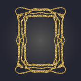 Sztuki Nouveau złocistej błyskotliwości prostokąta wektoru dekoracyjna rama dla projekta Art Deco stylu granica Obraz Royalty Free