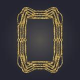 Sztuki Nouveau złocistej błyskotliwości prostokąta wektoru dekoracyjna rama dla projekta Art Deco stylu granica Obrazy Royalty Free