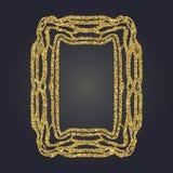 Sztuki Nouveau złocistej błyskotliwości prostokąta wektoru dekoracyjna rama dla projekta Art Deco stylu granica Zdjęcie Royalty Free