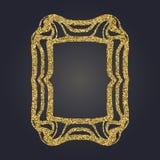 Sztuki Nouveau złocistej błyskotliwości prostokąta wektoru dekoracyjna rama dla projekta Art Deco stylu granica Fotografia Royalty Free