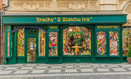 Sztuki nouveau zabawkarski sklep w Praga w Praga Fotografia Stock