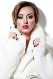sztuki piękna mody wysokości klucza makeup zima Zdjęcie Royalty Free