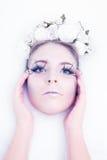 sztuki piękna mody wysokości klucza makeup zima Obraz Stock