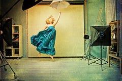 sztuki pięknego wizerunku retro tekstury kobieta zdjęcie royalty free