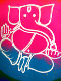 sztuki podłogowy indyjski rangoli Obraz Stock