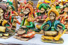 Sztuki praca, Indiańscy rękodzieła uczciwi przy Kolkata Obraz Royalty Free