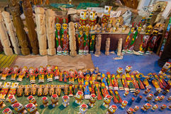 Sztuki praca, Indiańscy rękodzieła uczciwi przy Kolkata Obrazy Stock