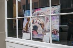 Sztuki pracy przedstawienie w okno Fotografia Royalty Free