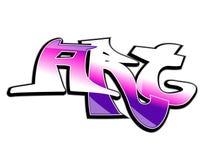 sztuki projekta graffiti Fotografia Royalty Free