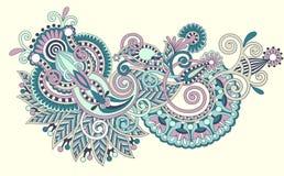 sztuki projekta kwiatu linia ozdobna Obrazy Royalty Free