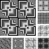 sztuki projekta setów wzorów bezszwowy set royalty ilustracja