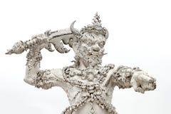 sztuki przyciągań pięknego chiang kulturalnego delikatnego khun rai rong zadania świątynny Thailand wat biel Zdjęcia Stock