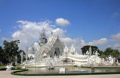 sztuki przyciągań pięknego chiang kulturalnego delikatnego khun rai rong zadania świątynny Thailand wat biel Zdjęcie Royalty Free