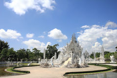 sztuki przyciągań pięknego chiang kulturalnego delikatnego khun rai rong zadania świątynny Thailand wat biel Fotografia Royalty Free