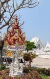 sztuki przyciągań pięknego chiang kulturalnego delikatnego khun rai rong zadania świątynny Thailand wat biel Obraz Stock