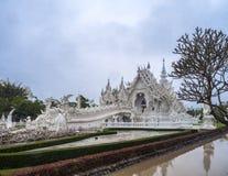 sztuki przyciągań pięknego chiang kulturalnego delikatnego khun rai rong zadania świątynny Thailand wat biel Zdjęcia Royalty Free
