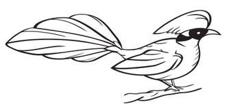 sztuki ptasiej klamerki ilustracyjna gałązka Fotografia Royalty Free
