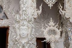 Sztuki rzeźba kąt twarz Zdjęcia Royalty Free