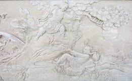 Sztuki rzeźba od ściany fotografia stock