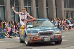 Sztuki samochodowa parada Fotografia Royalty Free