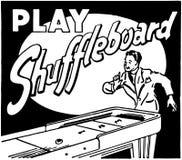 Sztuki Shuffleboard royalty ilustracja