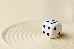 sztuki składu kostka do gry bawić się piasek Obraz Stock
