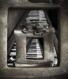 Sztuki Stary pianino Zdjęcia Stock