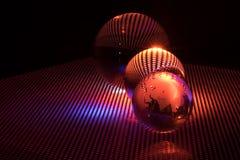 Sztuki szklana piłka obraz stock