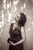 Sztuki sztuka cień na budować czarny i biały Fotografia Stock