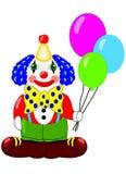 sztuki tła balonów błazenu ilustraci wektoru biel Fotografia Stock