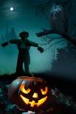 sztuki tła Halloween noc Fotografia Royalty Free