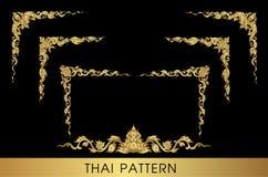 sztuki tajlandzki deseniowy Obrazy Royalty Free