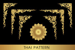 sztuki tajlandzki deseniowy Fotografia Royalty Free