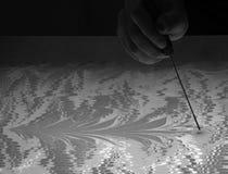 Sztuki technika Abstrakcjonistyczny drzewo - marmoryzacja - fotografia stock