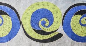 Sztuki textil tło Obraz Royalty Free