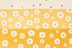 Sztuki tkaniny kwiatu wzór Fotografia Royalty Free