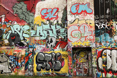 sztuki ulicy ściana Zdjęcia Royalty Free