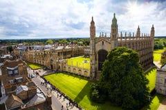 Sztuki uniwersytet w cambridge i królewiątko szkoły wyższa kaplica fotografia royalty free