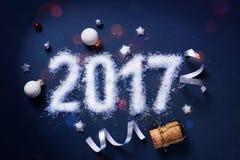 Sztuki 2017 Wesoło boże narodzenia i szczęśliwi nowy rok Bawją się tło Obraz Royalty Free