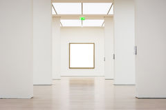 Sztuki Współczesnej muzeum ramy ściany ścinku ścieżki Odosobniony Biały wektor Obrazy Royalty Free