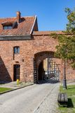 Sztum, Pomorskie / Poland - April, 16, 2019: Historic Teutonic castle in Central Europe. A brick building from the Middle Ages. Season of the spring stock image